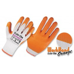 Guante Polycotton Latex Orange